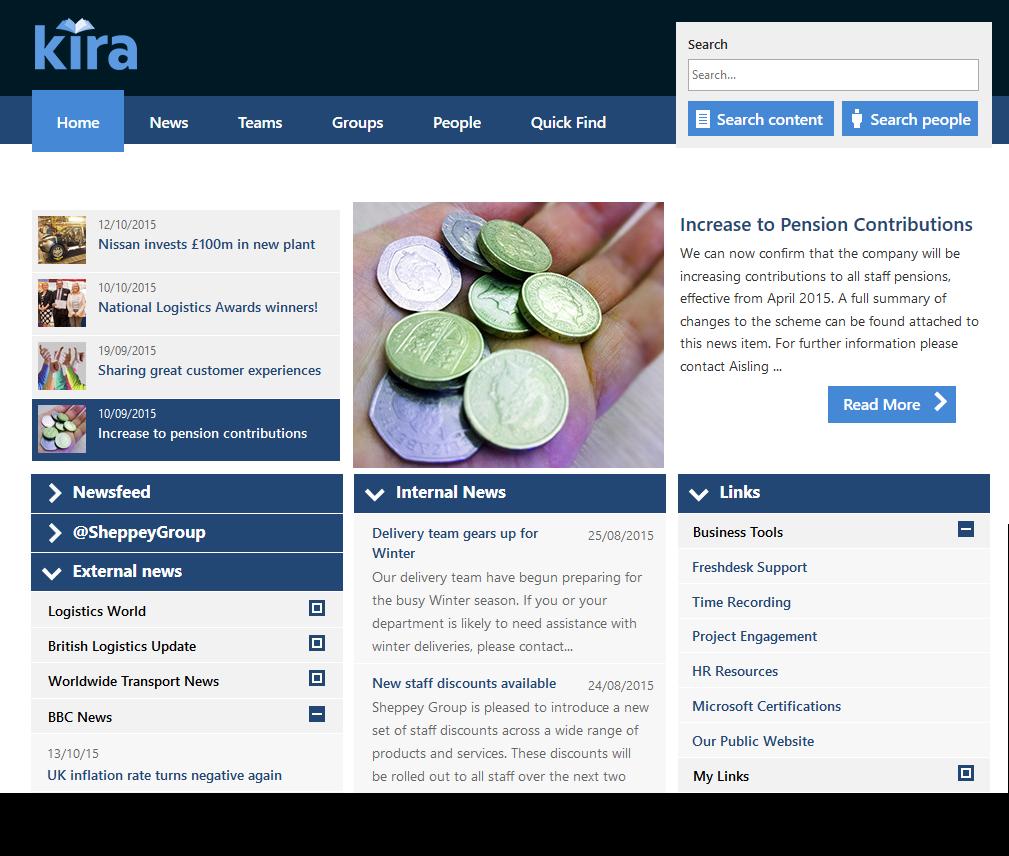 One style of Kira homepage