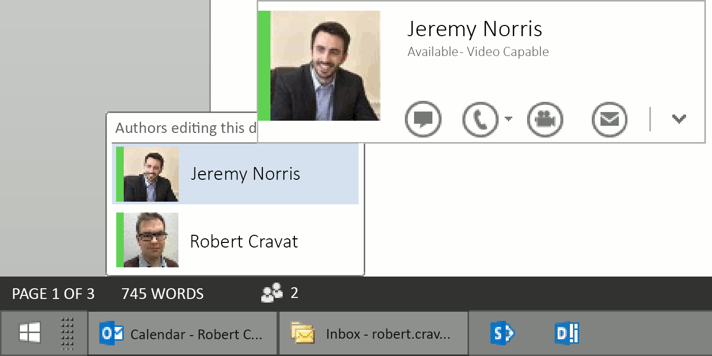 Collaborative authoring in Office 365