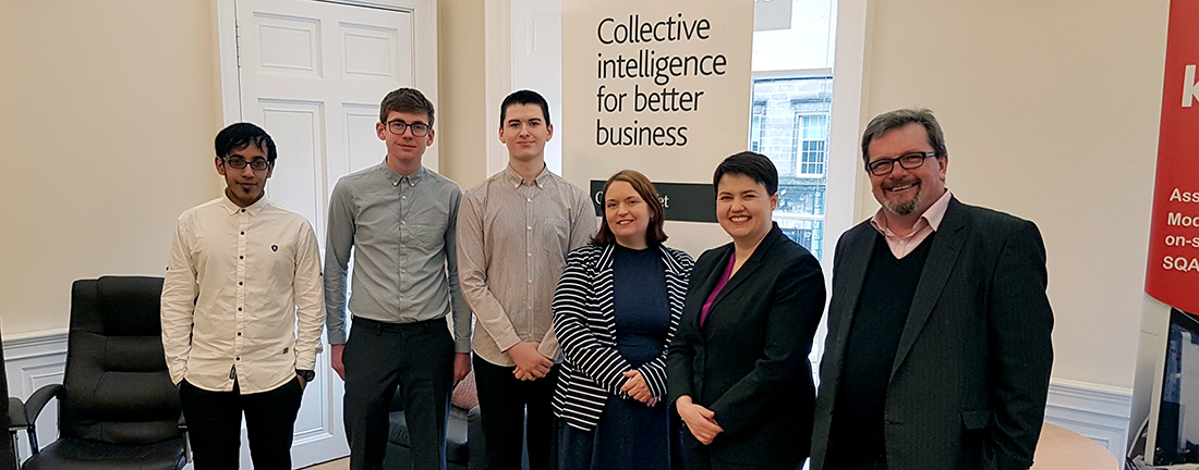 Ruth Davidson with CompanyNet staff