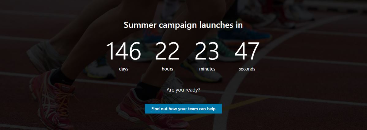 Countdown timer component