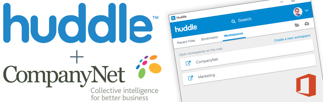 Huddle and CompanyNet logos