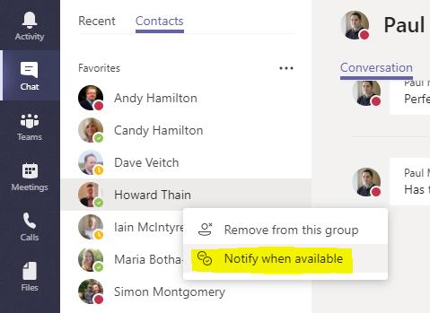 microsoft teams change chat icon