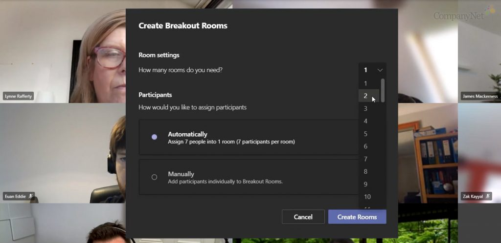 Setting up Breakout Rooms in Microsoft Teams